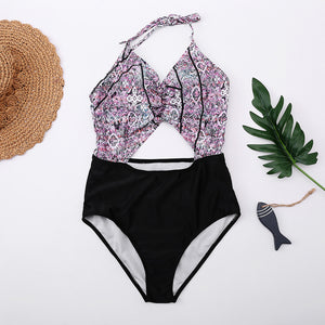 Flourishing Floral Print One-Piece Swimsuit