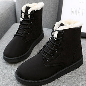 Velvet Snow Cotton Boots