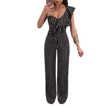 Fashion Sexy Striped Jumpsuit