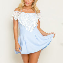 Elegant Off Shoulder Lace Sleeveless Mini Dress