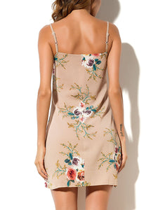 Spaghetti Strap  Floral Bodycon Dress