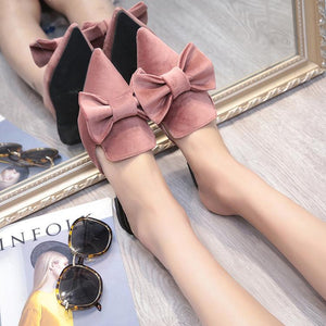 Casual Flat Suede Pointed Muller Shoes