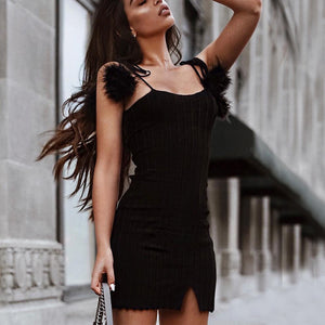 Sexy Elegant Sleeveless Mini Dress In Black