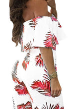 Open Shoulder  Flounce  Cascading Ruffles  Floral Printed  Cape Sleeve  Half Sleeve Jumpsuits