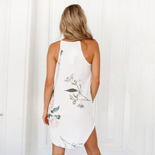 Elegant Sleeveless Floral Print Mini Dress