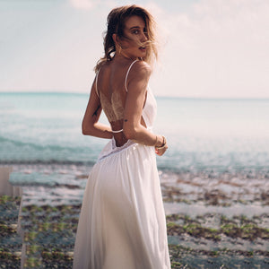 Sexy Elegant Backless Sleeveless Maxi Dress