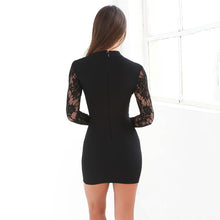 Sexy Elegant  Lace Long Sleeves Bodycon Dress