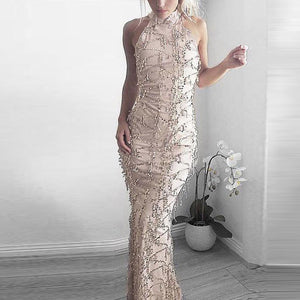 2018 New Style Sexy  Sequins Evening Party Dress