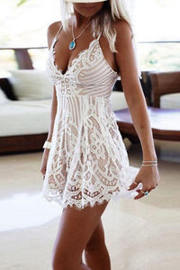 Sexy Stylish Lace Sleeveless Romper