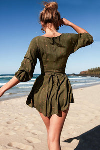 Sexy Casual Green Short Sleeves Romper