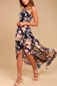Sexy Floarl Print Sleeveless Maxi Dress