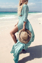 Floral Print Half Sleeves Vacation Maxi Dress