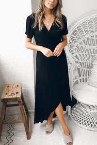 Sexy Fashion Short Sleeves Maxi Dress
