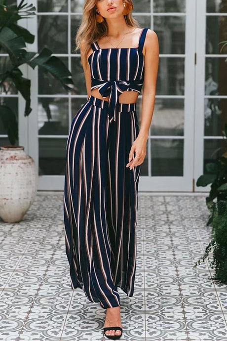 9590a7ce6f Sexy Fashion Stripe Sleeveless One Piece Suit