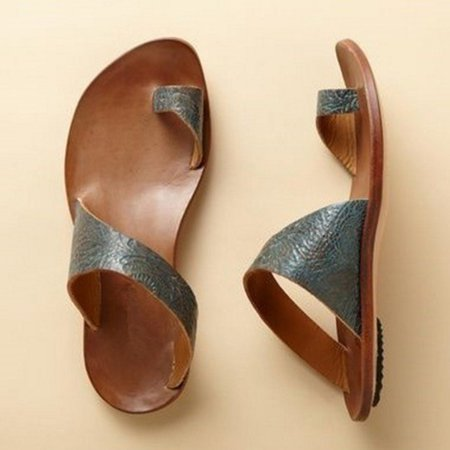 Daily Leather Flat Summer Slippers