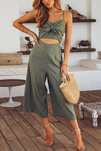 Sexy Fashion Hollow Out Sleeveless Jumpsuit