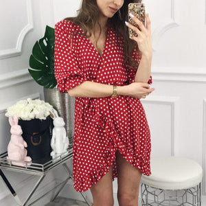 Elegant Sexy Wave Point Mini Dress