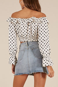 Sexy Off Shoulder T-Shirts Long Sleeve Blouses