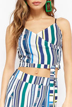 Stylish Stripe Two-Piece Suit Jumpsuit
