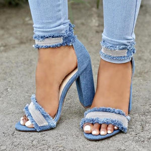 Denim Tassels With Sandals And Women's Shoes Sandals