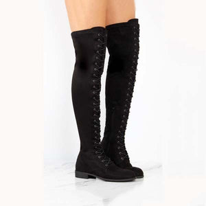 New Flat Bottom Over The Knee Boots Martin Boots