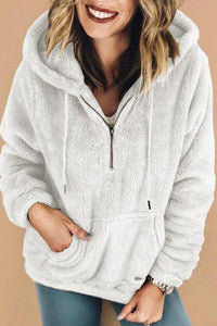 Fashion Hooded Fluffy In Fleece Fur Outerwear