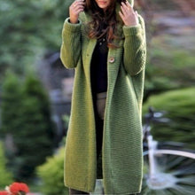 Fashion Hooded Long Sleeve Button Plain Casual Cardigans