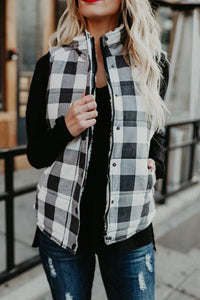 Fasion Casual Grid Waistcoat Outerwear