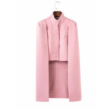 Fashion Solid Color Business Cloak Outerwear