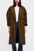 Corduroy Double Breasted Coat Outerwear