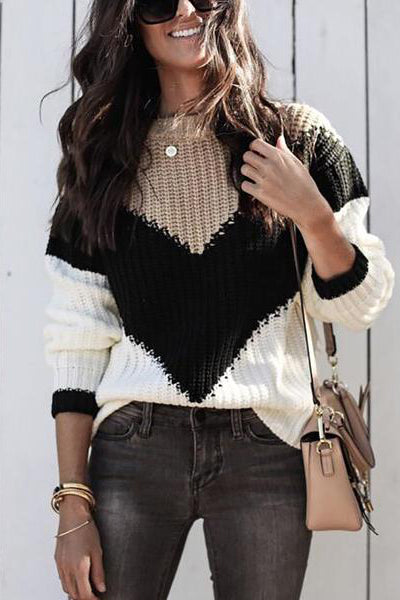 Fashion Loose Colorful Knit Sweater