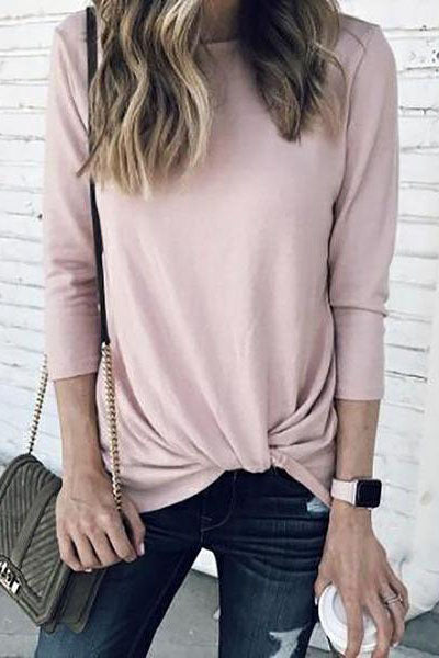 Fashion Knitted Irregular Long Sleeve