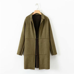 Fashion Casual Solid Color Coat