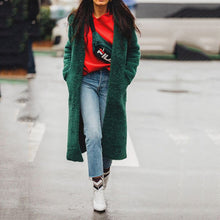 Fashion Casual Green Long Sleeve Coat