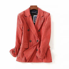 Fashion Casual Corduroy Women's Suit