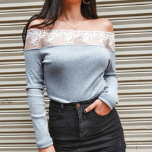 Fashion Embroidered Stitching One Shoulder Sweater