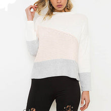 Fashion Casual Round Neck Stripe Sweaters
