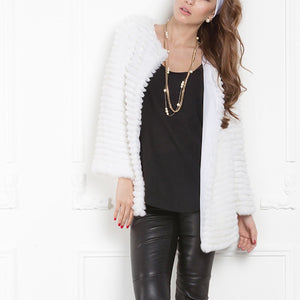 Fashion Solid Color Casual Long Sleeve Thick  Coat