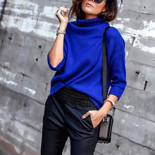 Solid Color Long Sleeve Turtleneck Sweater