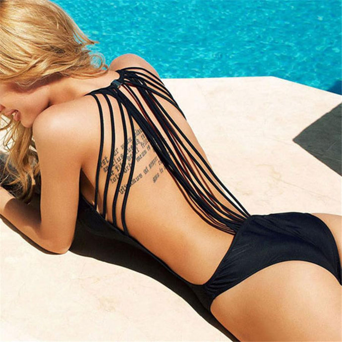 Sexy Backless Beach One-Piece Swimsuit