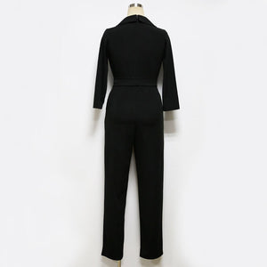 Fashion Plain Long Sleeve Jumpsuits