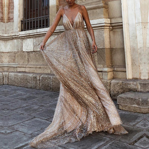 Sexy Elegant Lace Sleeveless Maxi Evening Dress