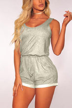 Casual Drawtring Strap Playsuit Rompers