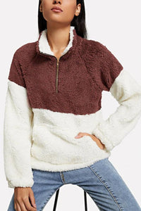 Fashion  Casual Stand Collar Zipper Sweater