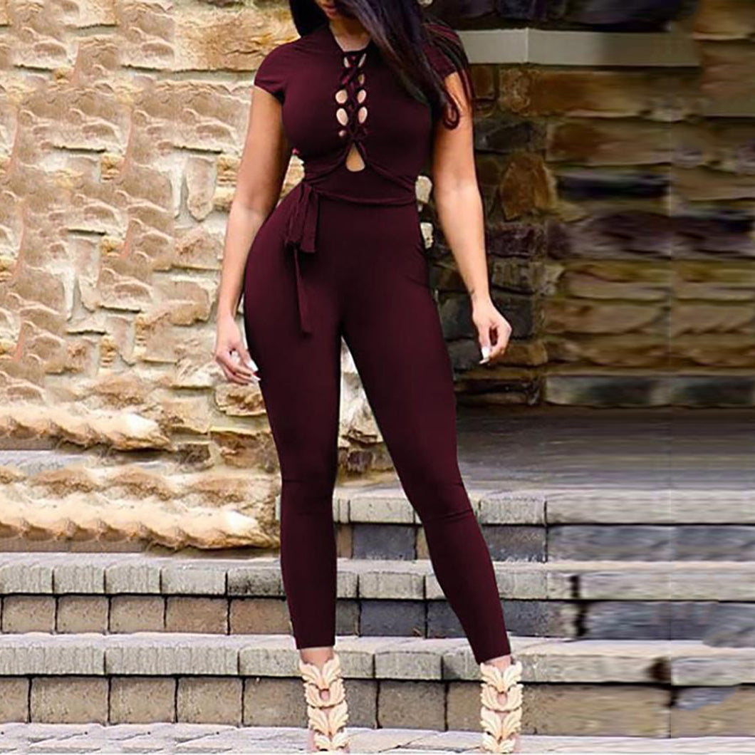 Sexy Stylish Hollow Out Slinky Jumpsuit
