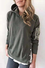 Fashion Plain Long Sleeve Hoodie Sweatshirts