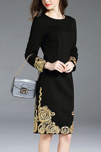 Elegant Embroidered Evening Dress