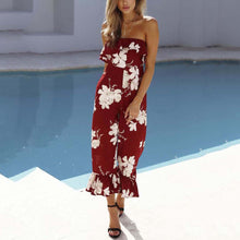 Sexy Fashion Printed Backless Jumpsuit