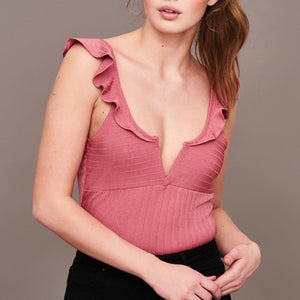 Sexy V Collar Sleeveless Rompers