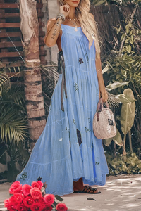 Sexy Fashion Sleeveless Vacation Maxi Dress